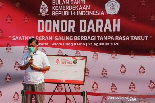 JK ajak masyarakat tingkatkan kepedulian donor darah saat pandemi
