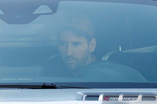 Lionel Messi kembali berlatih dengan Barcelona