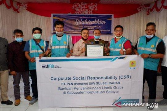 PLN salurkan listrik gratis bagi 1.000 pelanggan di Kabupaten Selayar