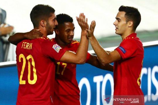 Ansu Fati inspiratif saat Spanyol telan Ukraina 4-0