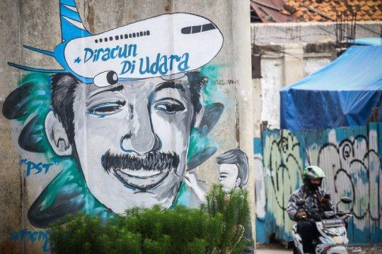 Mural untuk mengenang Munir Said Thalib