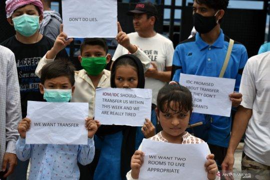 Pengungsi luar negeri demo Rudenim Pekanbaru minta perbaikan fasilitas