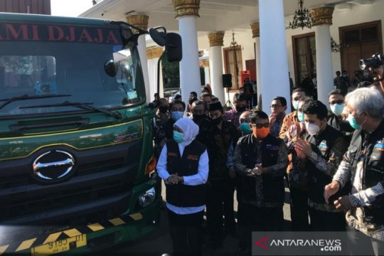 Gubernur Jatim lepas ekspor 19,2 ton kopi ke Inggris