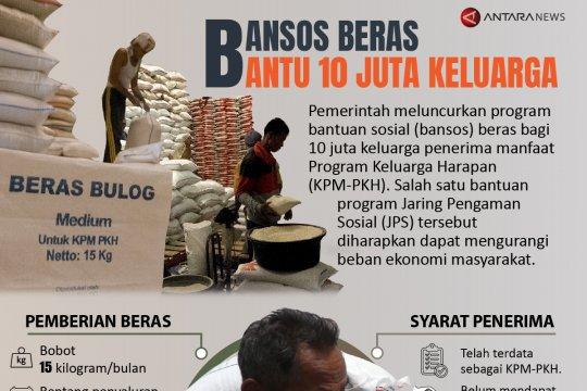 Bansos beras bantu 10 juta keluarga