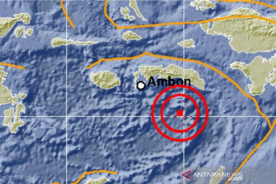 Gempa dengan magnitudo 6,2 terjadi di Laut Banda