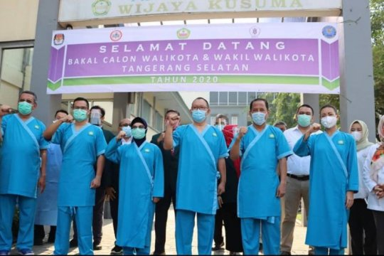 Tiga pasang calon peserta Pilkada Tangsel jalani pemeriksaan kesehatan