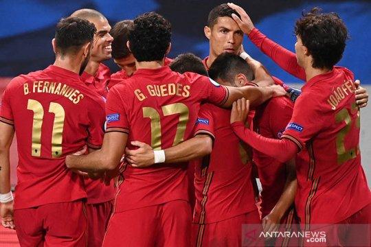 Ronaldo ukir gol ke-100 untuk Portugal