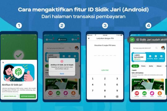 GoPay ajak pengguna aktifkan fitur biometrik, begini caranya
