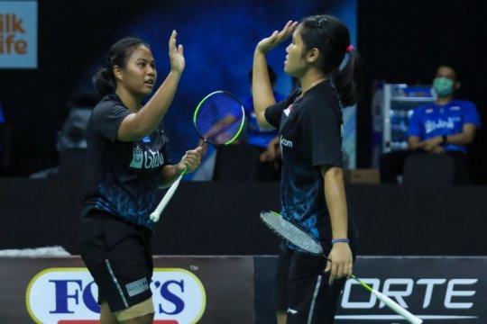 Lanny/Jesita bawa tim Garuda unggul atas tim Rajawali