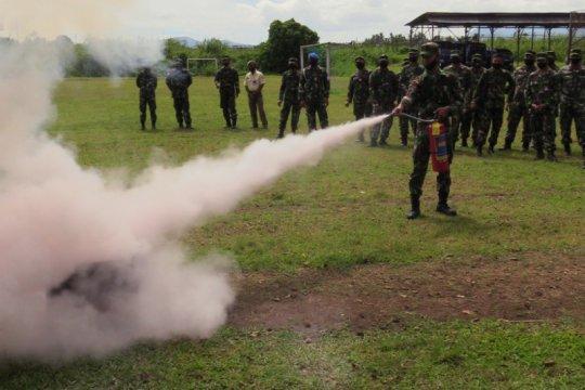 Simulasi pemadaman kebakaran digelar Lanud Sam Ratulangi