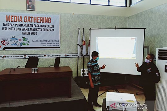 KPU Surabaya sebut salah satu peserta pilkada 2020 positif COVID-19