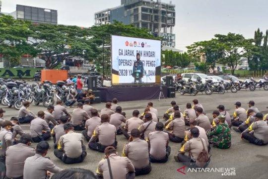 Polda Lampung bagikan 250 ribu masker kepada masyarakat