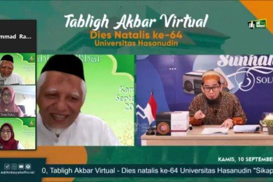 Ustadz Adi Hidayat beri tausiah dalam Tabligh Akbar Dies Natalis Unhas