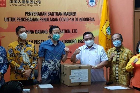Kosgoro 1957 dapat bantuan 100.000 masker dari Tiongkok