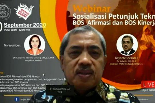 Kemendikbud : Jumlah sasaran BOS Afirmasi dan BOS Kinerja meningkat