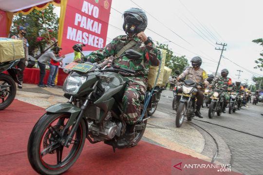 Pembagian 630 ribu masker untuk Masyarakat Riau