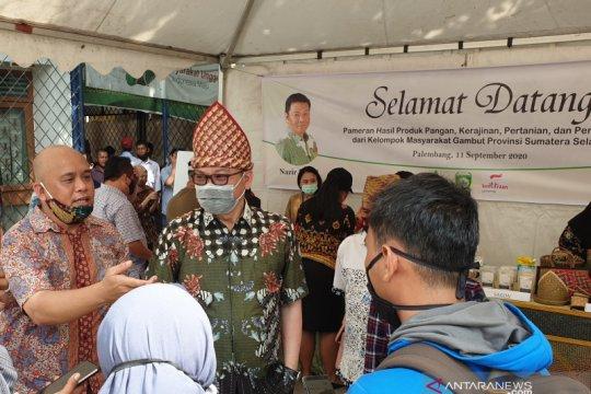 Tim BRG fasilitasi pameran produk pangan masyarakat desa gambut Sumsel