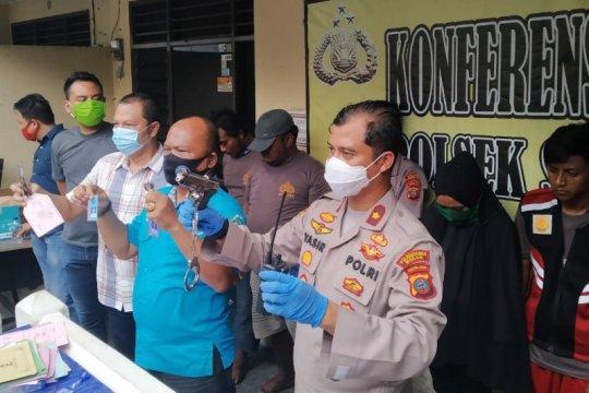 Polisi ringkus delapan perampok gunakan senjata api rakitan di Medan