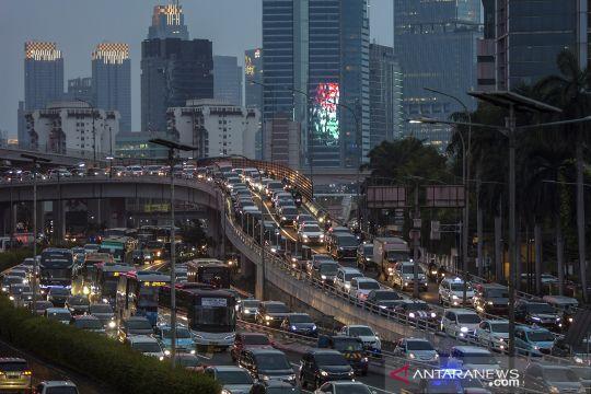 Kemacetan di ibu kota jelang penerapan PSBB total