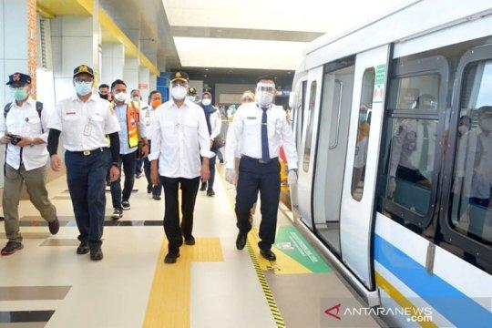Menhub tinjau konektivitas transportasi antarmoda di Palembang
