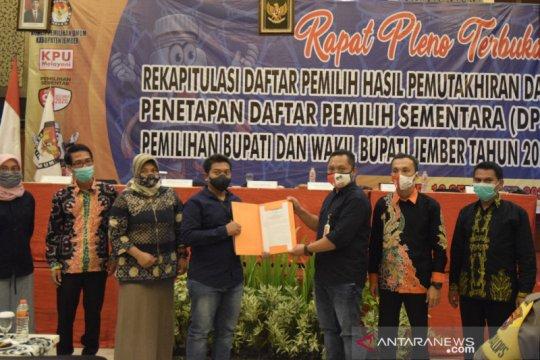 KPU tetapkan daftar pemilih sementara Pilkada Jember 1.834.441 pemilih