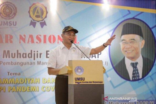Menteri PMK minta warga Muhammdiyah pelopor gerakan pakai masker