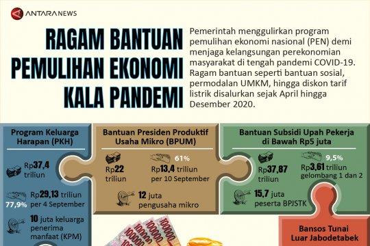 Ragam bantuan pemulihan ekonomi kala pandemi