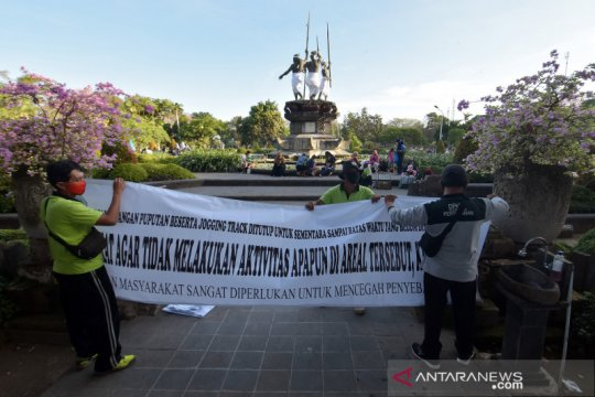 Penutupan ruang publik di Denpasar