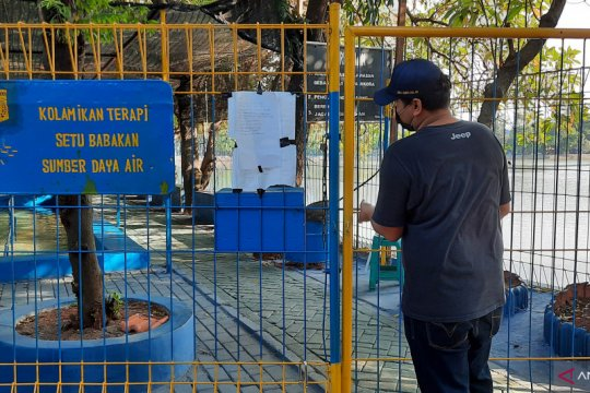 Sudin SDA Jaksel tutup layanan kolam terapi ikan Setu Babakan