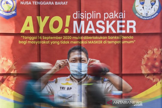 Pemprov NTB mulai berlakukan denda bagi warga yang tidak pakai masker