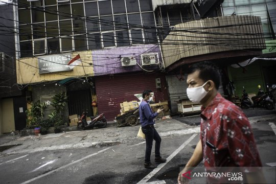 Pertokoan Harco Pasar Baru tutup sementara akibat dua orang positif