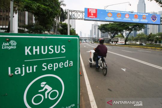 Kawasan khusus pesepeda di Jakarta ditiadakan saat PSBB