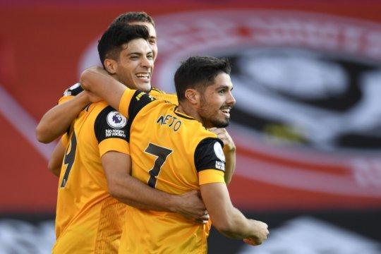 Dua gol cepat antar Wolves tundukkan Sheffield 2-0