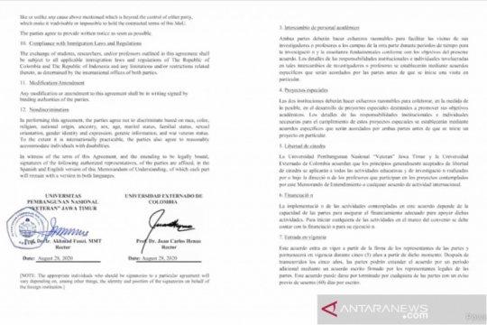 Indonesia, Kolombia berharap program pertukaran berlanjut pascapandemi