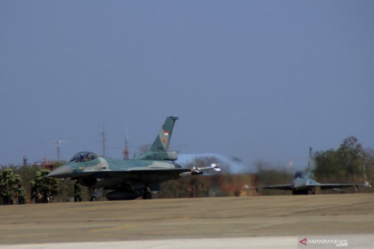 Dua jet tempur F-16 patroli perbatasan Indonesia-Timor Leste-Australia