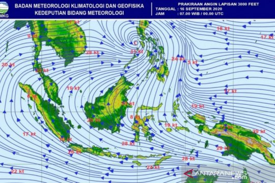 BMKG Aceh: Cuaca labil akibat gangguan di atmosfer Sumatera