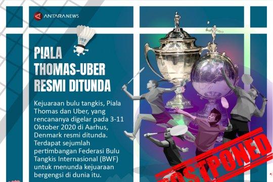 Piala Thomas-Uber resmi ditunda