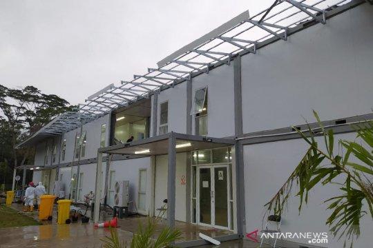 Gedung karantina RSKI Galang rusak tertiup angin