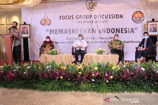 "Cegah penularan corona, Polri dukung kampanye ""Memaskerkan Indonesia"""