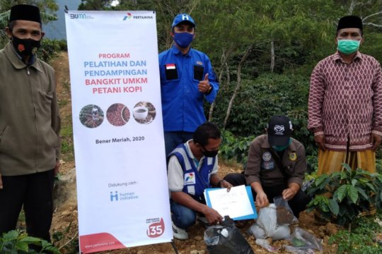Pertamina tingkatkan kapasitas produksi petani kopi Bener Meriah