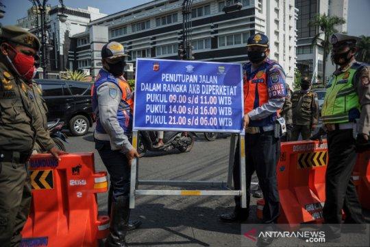 Penutupan jalan protokol di Bandung