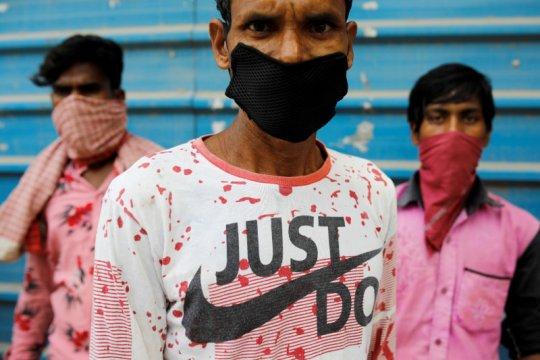 Infeksi corona di India kembali melonjak