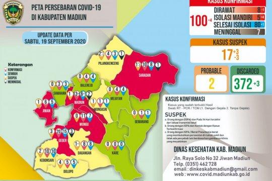 Tambah empat, positif COVID-19 di Kabupaten Madiun tembus 100 orang