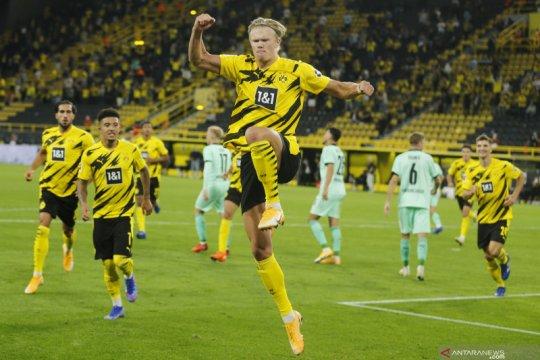 Dua gol Haaland warnai kemenangan 3-0 Dortmund atas Gladbach