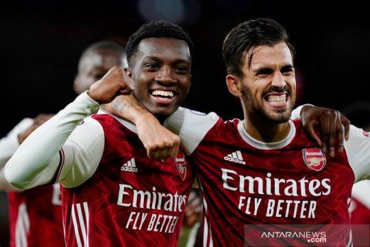 Nketiah cetak gol penentu kemenangan Arsenal atas West Ham