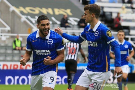 Brighton cukur Newcastle tiga gol tanpa balas
