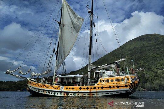 Jalur rempah Indonesia disinggahi kapal layar Arka Kinari