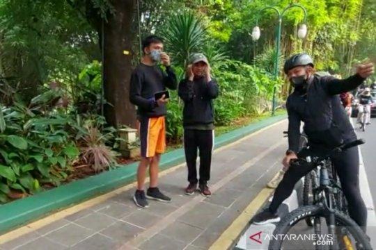 Pedestrian lingkar Kebun Raya Bogor disekat di sembilan titik