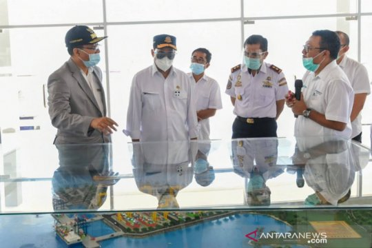 Menhub bersama Gubernur NTB inspeksi kesiapan Pelabuhan Gili Mas