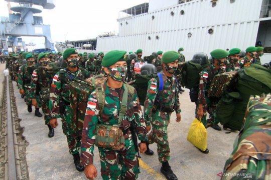 Kepulangan satgas pamtas RI-Malaysia
